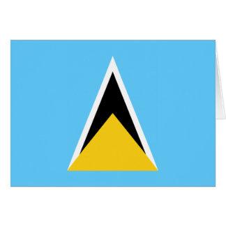 Bandera de la Santa Lucía Tarjeta De Felicitación