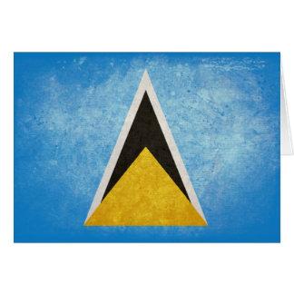 Bandera de la Santa Lucía Tarjeta Pequeña