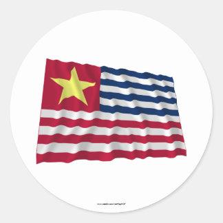 Bandera de la secesión de Luisiana de 1861 Pegatina Redonda