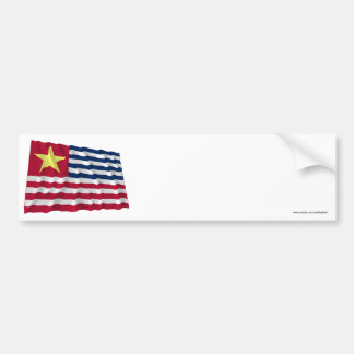 Bandera de la secesión de Luisiana de 1861 Pegatina Para Auto