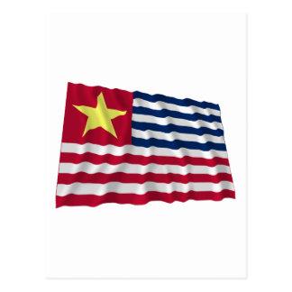 Bandera de la secesión de Luisiana de 1861 Tarjeta Postal