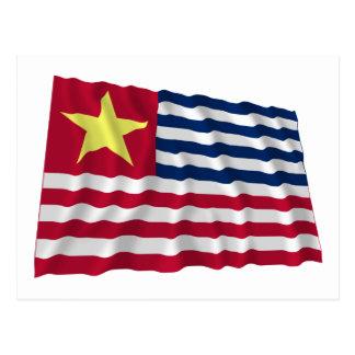 Bandera de la secesión de Luisiana de 1861 Tarjetas Postales