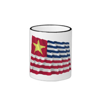 Bandera de la secesión de Luisiana de 1861 Taza A Dos Colores
