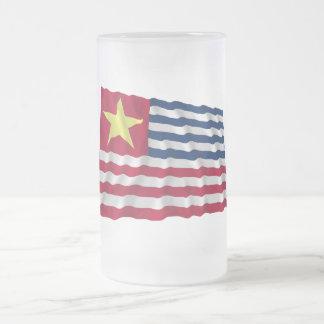 Bandera de la secesión de Luisiana de 1861 Taza Cristal Mate