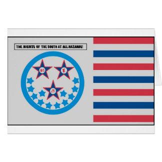 Bandera de la secesión usada por la Florida - 10 d Tarjeta De Felicitación