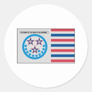 Bandera de la secesión usada por la Florida - 10 Pegatina Redonda