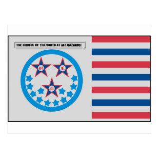 Bandera de la secesión usada por la Florida - 10 Tarjeta Postal