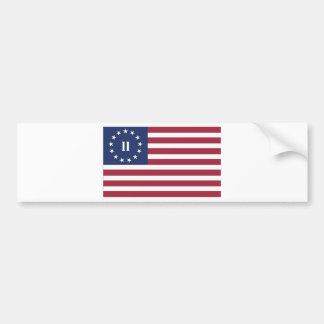 Bandera de la segunda revolución americana pegatina de parachoque