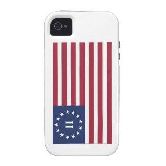 Bandera de la segunda revolución americana iPhone 4 funda