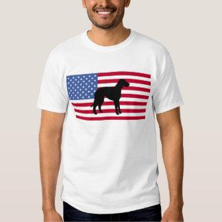 bandera de la silueta del perro del leopardo del poleras
