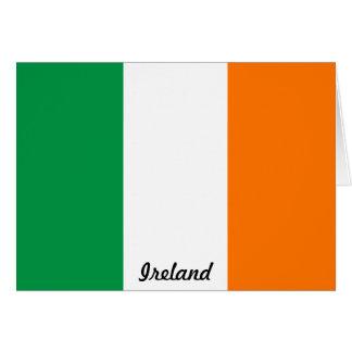 Bandera de la tarjeta de nota de Irlanda