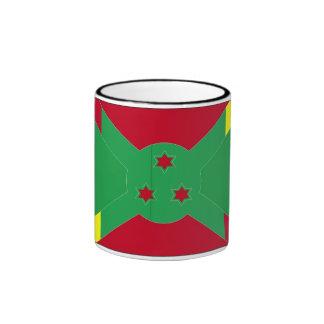 Bandera de la taza de Benin y de Burundi