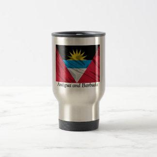 Bandera de la taza de café de Antigua y de Barbuda