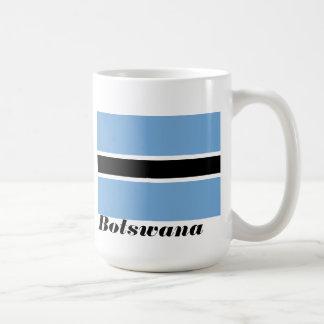 Bandera de la taza de café de Botswana