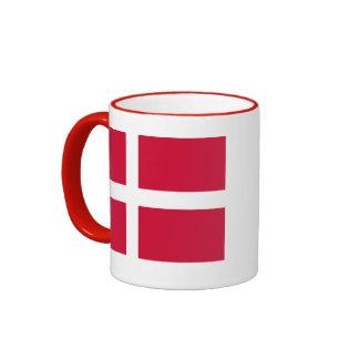 Bandera de la taza de café de Dinamarca
