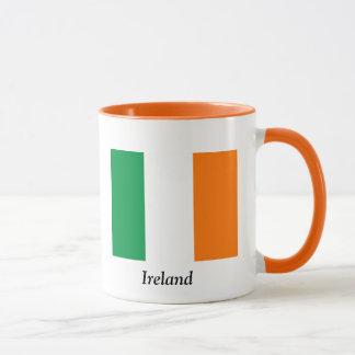 Bandera de la taza de café de Irlanda