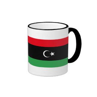 Bandera de la taza de café de Libia