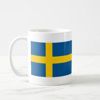 Bandera de la taza de café de Suecia