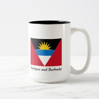 Bandera de la taza de café del tono de Antigua y d
