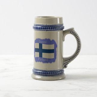 Bandera de la taza de Finlandia
