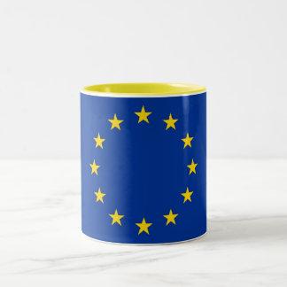 Bandera de la taza de la unión europea