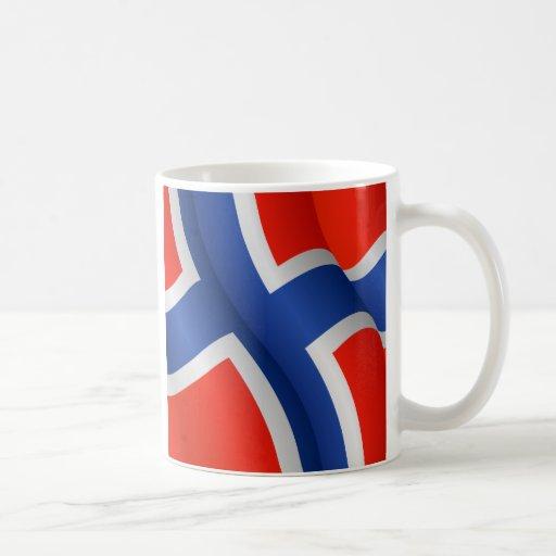 Bandera de la taza de Noruega