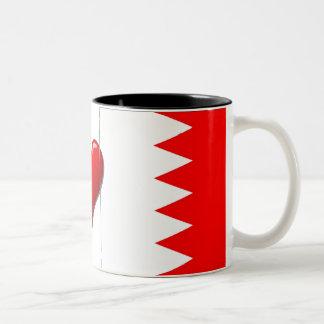 Bandera de la taza del corazón de Bahrein