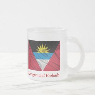 Bandera de la taza del vidrio esmerilado de Antigu