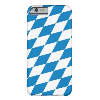 bandera de la tierra de Alemania de Baviera Funda De iPhone 6 Barely There