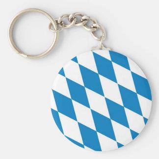 bandera de la tierra de Alemania de Baviera Llavero Redondo Tipo Pin