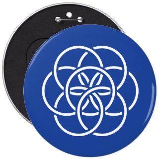Bandera de la tierra del planeta - botón