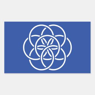Bandera de la tierra del planeta - pegatina