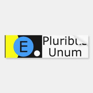 Bandera de la tierra - E Pluribus Unum Pegatina De Parachoque