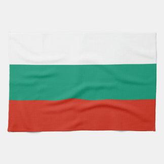 Bandera de la toalla de cocina de Bulgaria