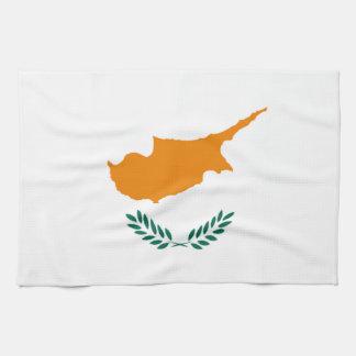 Bandera de la toalla de cocina de Chipre
