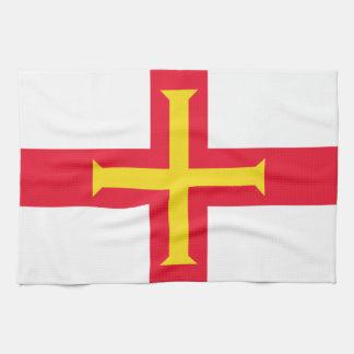 Bandera de la toalla de cocina de Guernesey