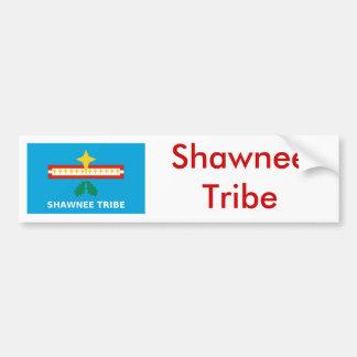 Bandera de la tribu del Shawnee Pegatina De Parachoque