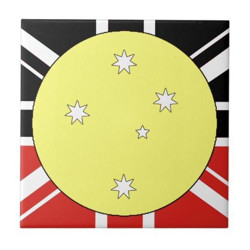 Bandera de la unificación de Australia Azulejo Cuadrado Pequeño