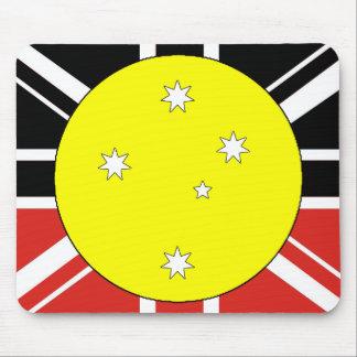 Bandera de la unificación de Australia Tapete De Ratones