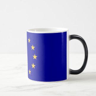 bandera de la unión europea taza de café
