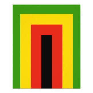 """Bandera de la unión nacional africana de Zimbabwe Folleto 4.5"""" X 5.6"""""""