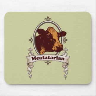 Bandera de la vaca de Meatatarian Alfombrilla De Ratón