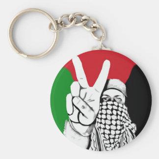 Bandera de la victoria de Palestina Llavero Redondo Tipo Pin