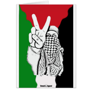Bandera de la victoria de Palestina Tarjeta De Felicitación