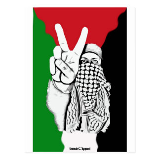 Bandera de la victoria de Palestina Tarjetas Postales