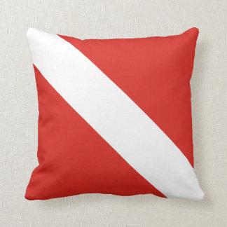 Bandera de la zambullida cojín