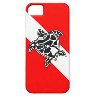 Bandera de la zambullida de la tortuga de Hawaii Funda Para iPhone 5 Barely There