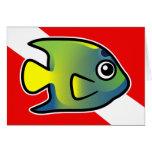 Bandera de la zambullida del Angelfish de la reina Felicitacion