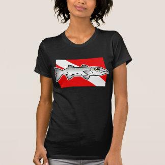 Bandera de la zambullida del Barracuda Poleras