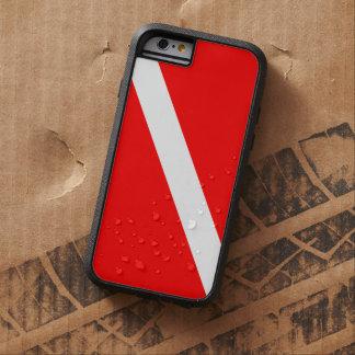 Bandera de la zambullida del buceo con escafandra funda tough xtreme iPhone 6